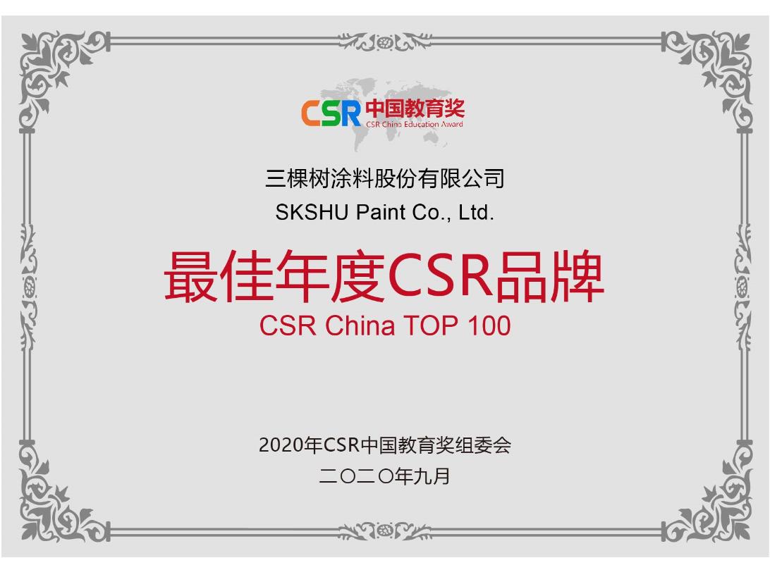 2020 CSR China Top 100